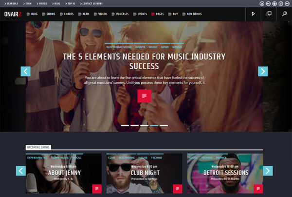 Simple multimedia website solution great for podcast, radio stations, vloggers, live stream and video based websites. Define your success and let us build it!